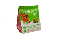 BISCUITS GREEN'UP SPIRULINE&CRANB 120G