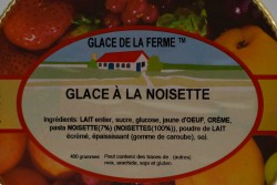 GLACE.FERME Noisettes 500mL