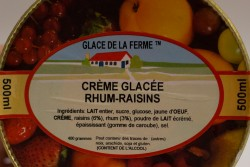 GLACE.FERME Rhum Raisin 500mL